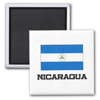 Nicaragua Flag Square Magnet