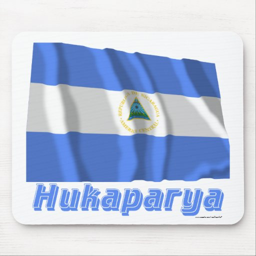 Nicaragua Flag with name in Russian Mouse Pad