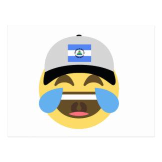 Nicaragua Hat Laughing Emoji Postcard