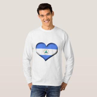 Nicaragua Heart Flag T-Shirt