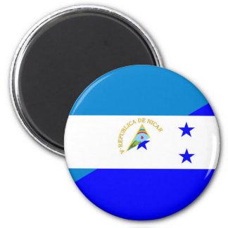 nicaragua honduras flag country half flag symbol 6 cm round magnet