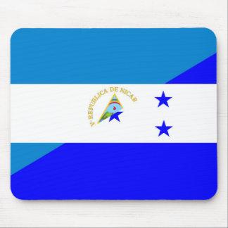 nicaragua honduras flag country half flag symbol mouse mat