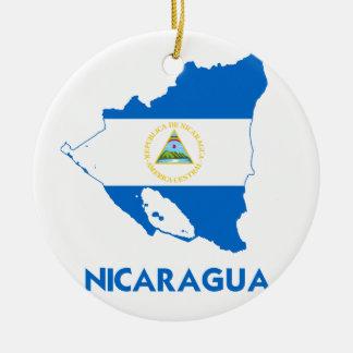 NICARAGUA MAP CHRISTMAS ORNAMENT