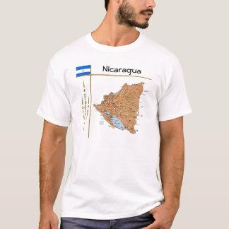 Nicaragua Map + Flag + Title T-Shirt