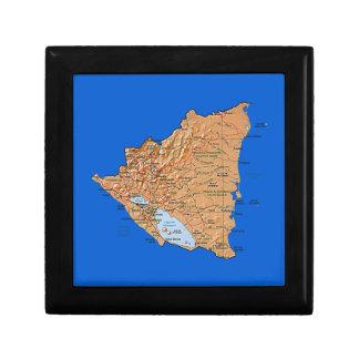 Nicaragua Map Gift Box