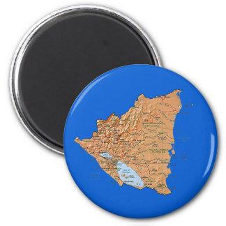Nicaragua Map Magnet