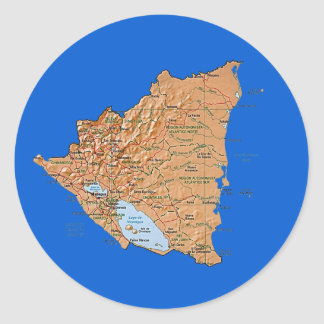 Nicaragua Map Sticker
