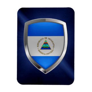 Nicaragua Metallic Emblem Rectangular Photo Magnet