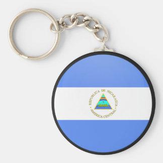 Nicaragua quality Flag Circle Basic Round Button Key Ring