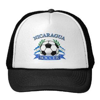 Nicaragua soccer ball designs hats