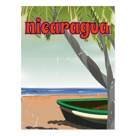 Nicaragua vintage travel poster. postcard