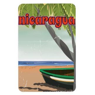 Nicaragua  vintage travel poster. rectangular photo magnet