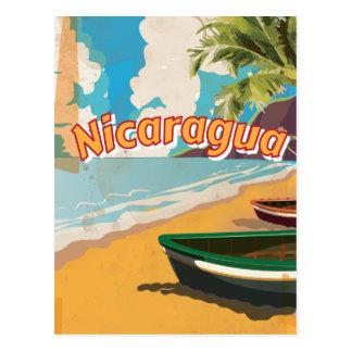 Nicaragua Vintage vacation Poster Postcard