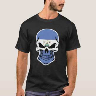 Nicaraguan Flag Skull T-Shirt