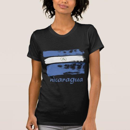 Nicaraguan grunge flag design T-Shirt