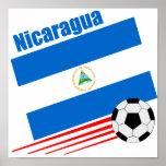 Nicaraguan Soccer Team Poster