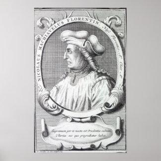 Niccolo Machiavelli, 1724 Poster