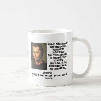 Niccolo Machiavelli New Order Of Things Quote Coffee Mug