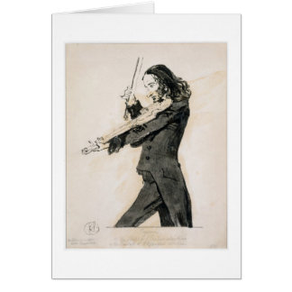 Niccolo Paganini (1782-1840) Playing the Violin, 1 Greeting Card