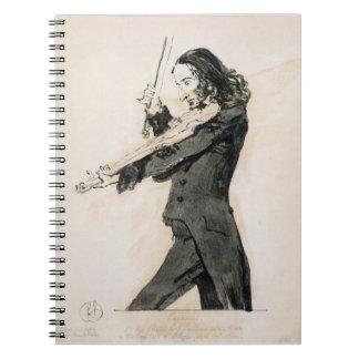 Niccolo Paganini (1782-1840) Playing the Violin, 1 Notebook