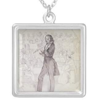 Niccolo Paganini , violinist Silver Plated Necklace
