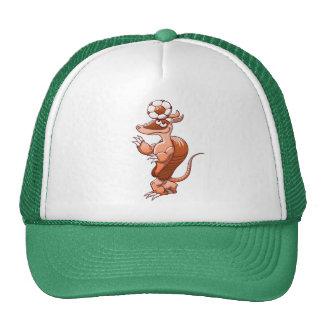 Nice armadillo balancing a soccer ball on its head cap