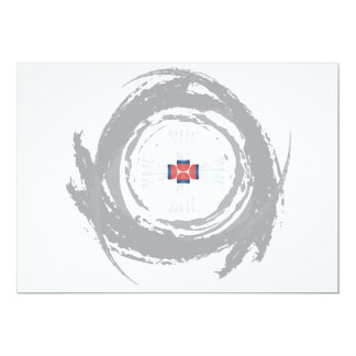 Nice Badminton Circular Grunge 13 Cm X 18 Cm Invitation Card