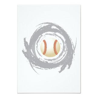 Nice Baseball Circular Grunge Card