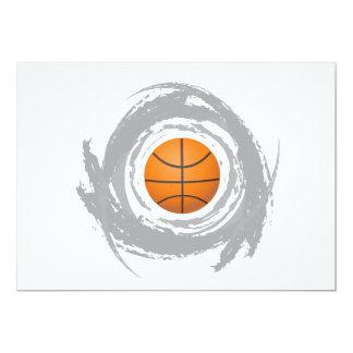 Nice Basketball Circular Grunge Card