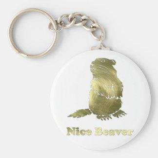 nice beaver key ring