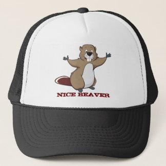 NICE BEAVER TRUCKER HAT