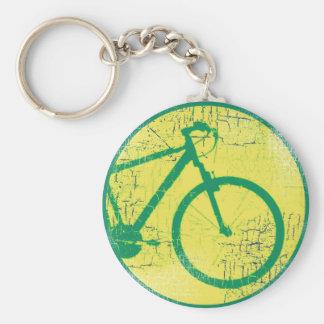 nice bicycle . biking . bike-themed basic round button key ring