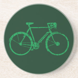nice bicycle . biking . bike-themed sandstone coaster