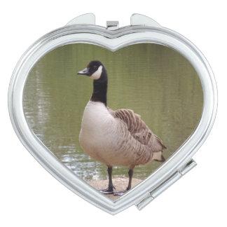 Nice Bird Heart Compact Mirror