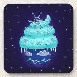 Nice blue Cupcake with flake Coaster
