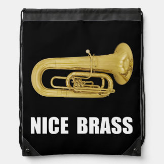 Nice Brass Tuba Drawstring Backpack