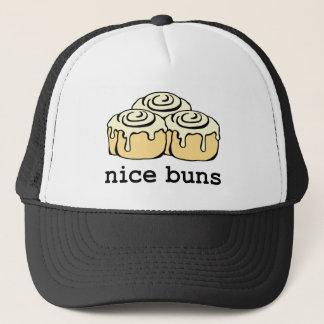 Nice Buns Cinnamon Roll Funny Cartoon Design Trucker Hat
