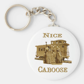 Nice Caboose Train Keychain