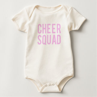 Nice Cheer Squad Pink Print Baby Bodysuit