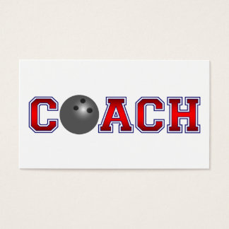 Nice Coach Bowling Insignia Business Card