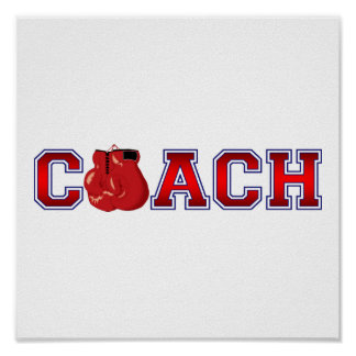 Nice Coach Boxing Insignia Poster