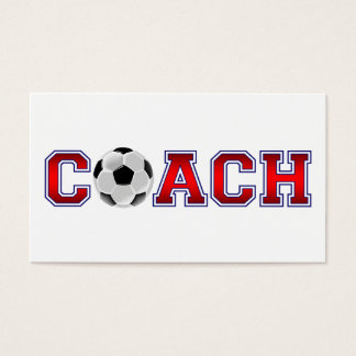 Nice Coach Soccer Insignia Business Card