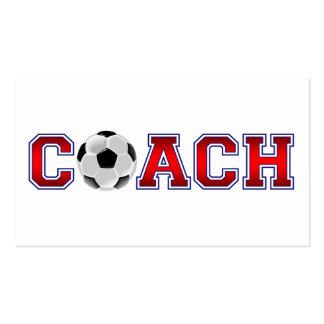 Nice Coach Soccer Insignia Business Card Template