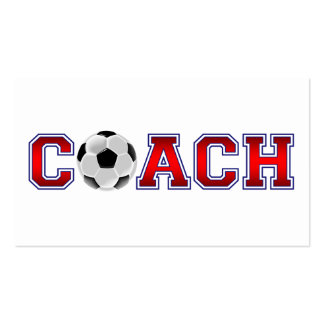 Nice Coach Soccer Insignia Pack Of Standard Business Cards