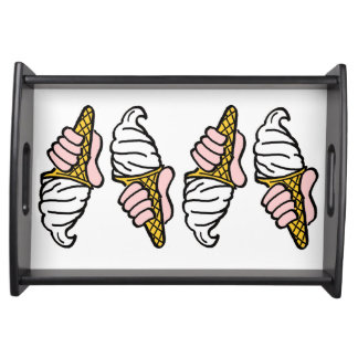 Nice Cold Ice Cream Serving Tray