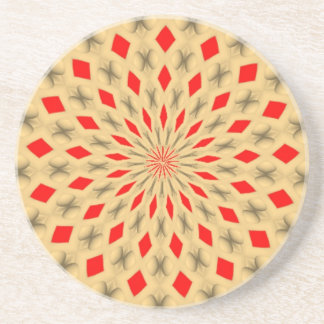 Nice colorful abstract pattern coaster