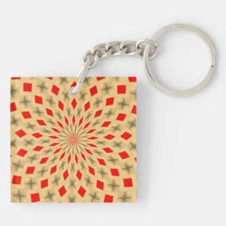 Nice Colorful abstract pattern Double-Sided Square Acrylic Key Ring