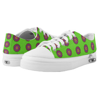 Nice colorful pattern low tops