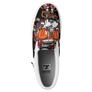Nice cool graffiti shoes printed shoes