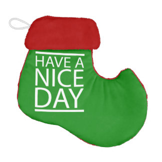 Nice Day Green Elf Christmas Stocking